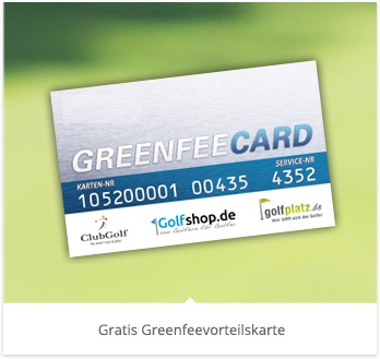 Golf Greenfee Karte
